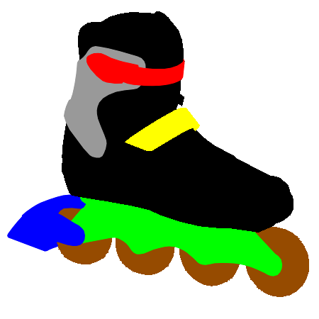 Structure of inline skates for fitness